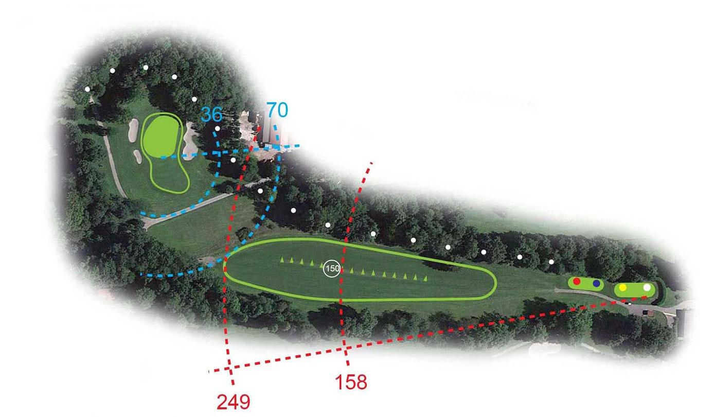Buca 1 il Musinè Golf Club le Fronde Avigliana