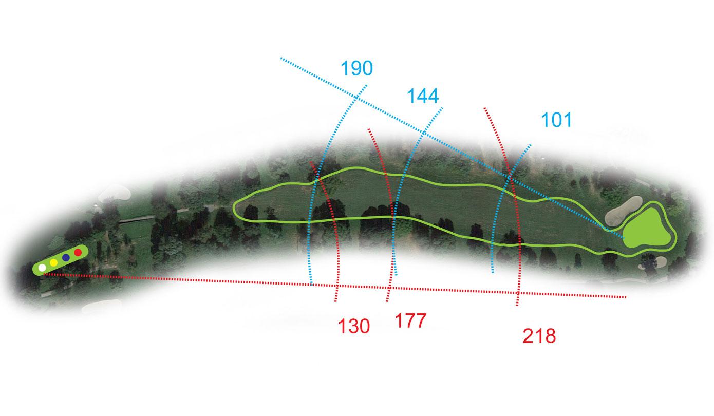 Buca 16 l' Alberone Golf Club le Fronde Avigliana