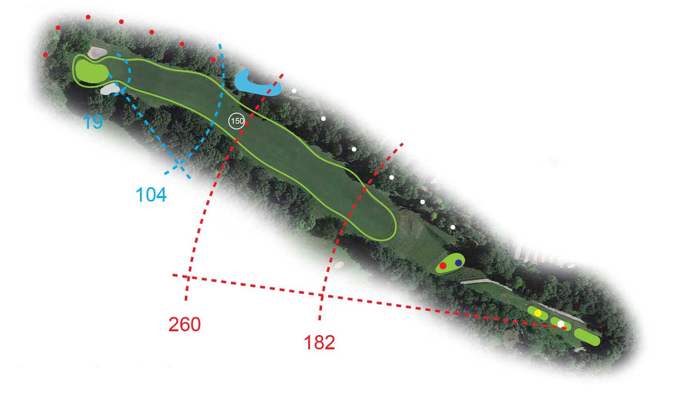 Buca 2 la Sacra Golf Club le Fronde Avigliana