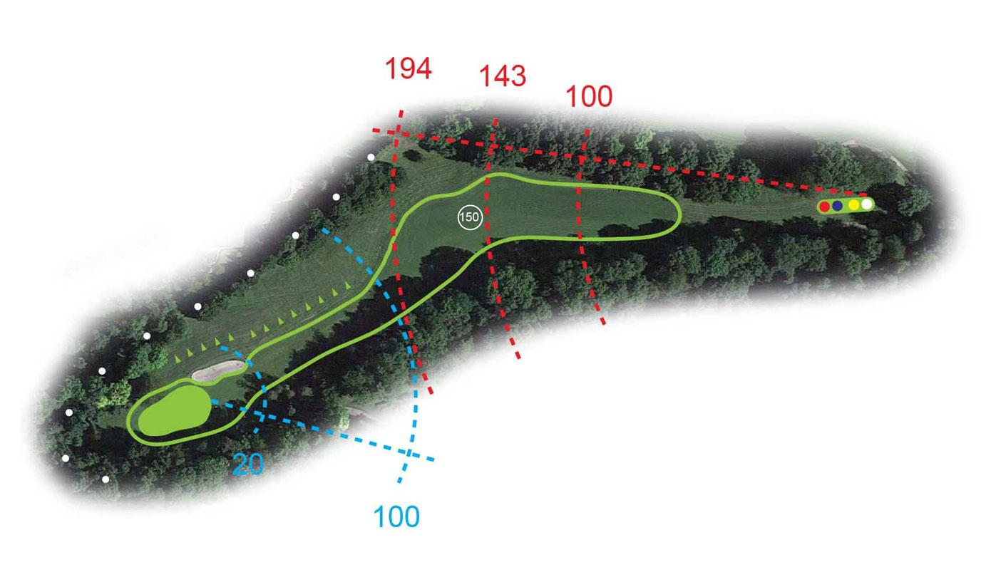 Buca 4 il Sasso Golf Club le Fronde Avigliana