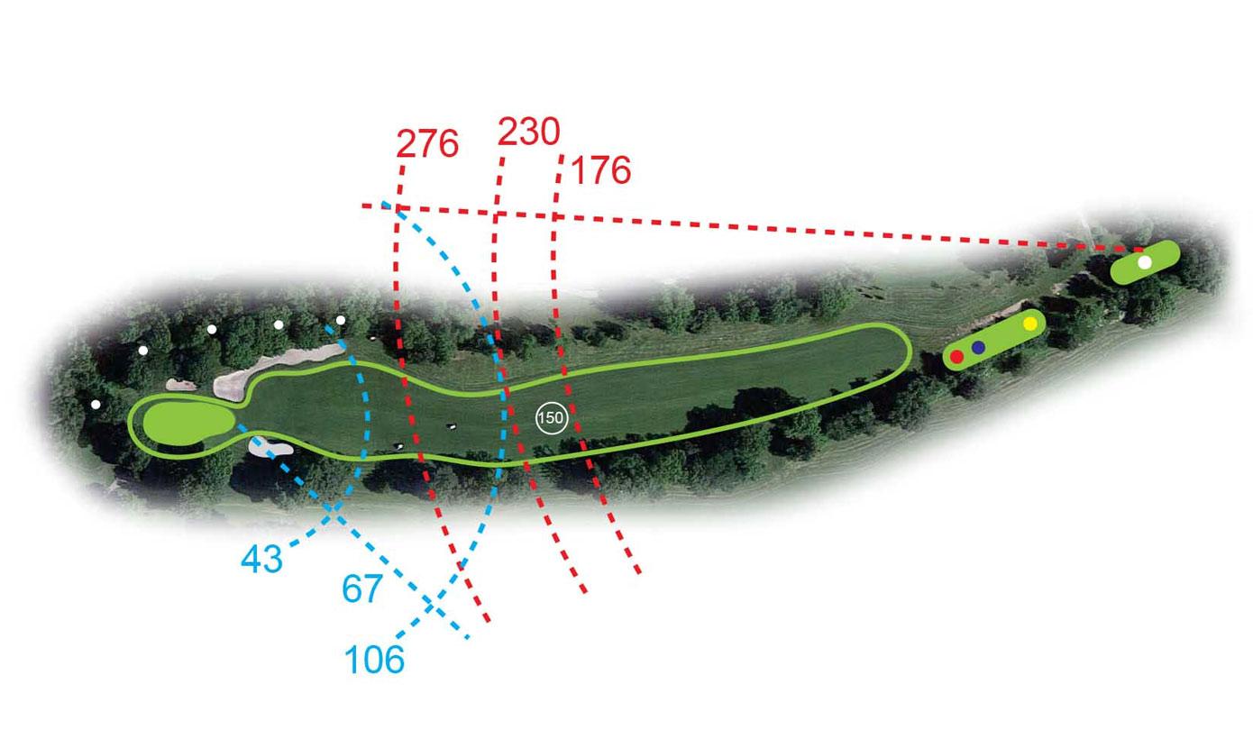 Buca 6 il Muro Golf Club le Fronde Avigliana