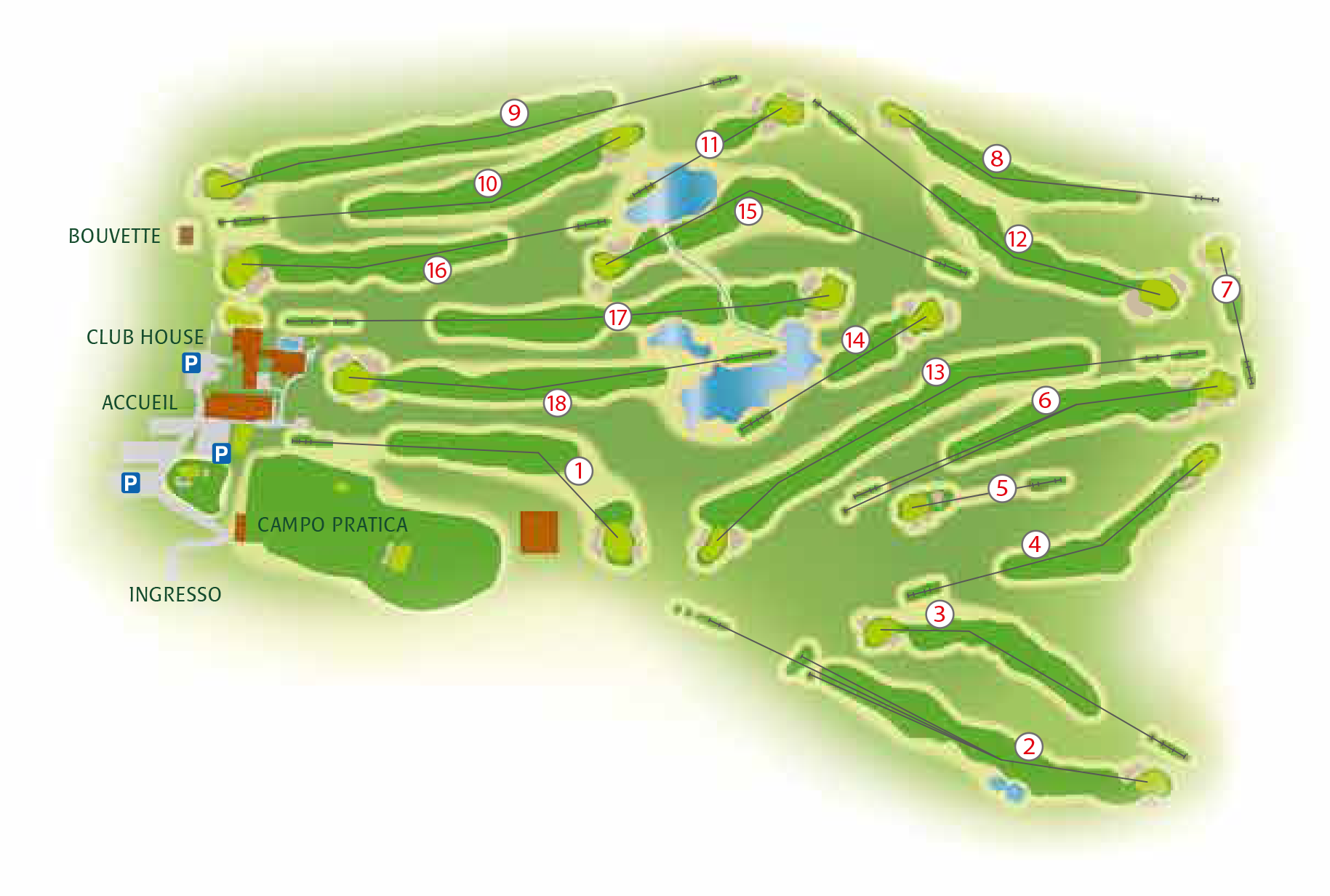 mappa-buche-golf-club-le-fronde
